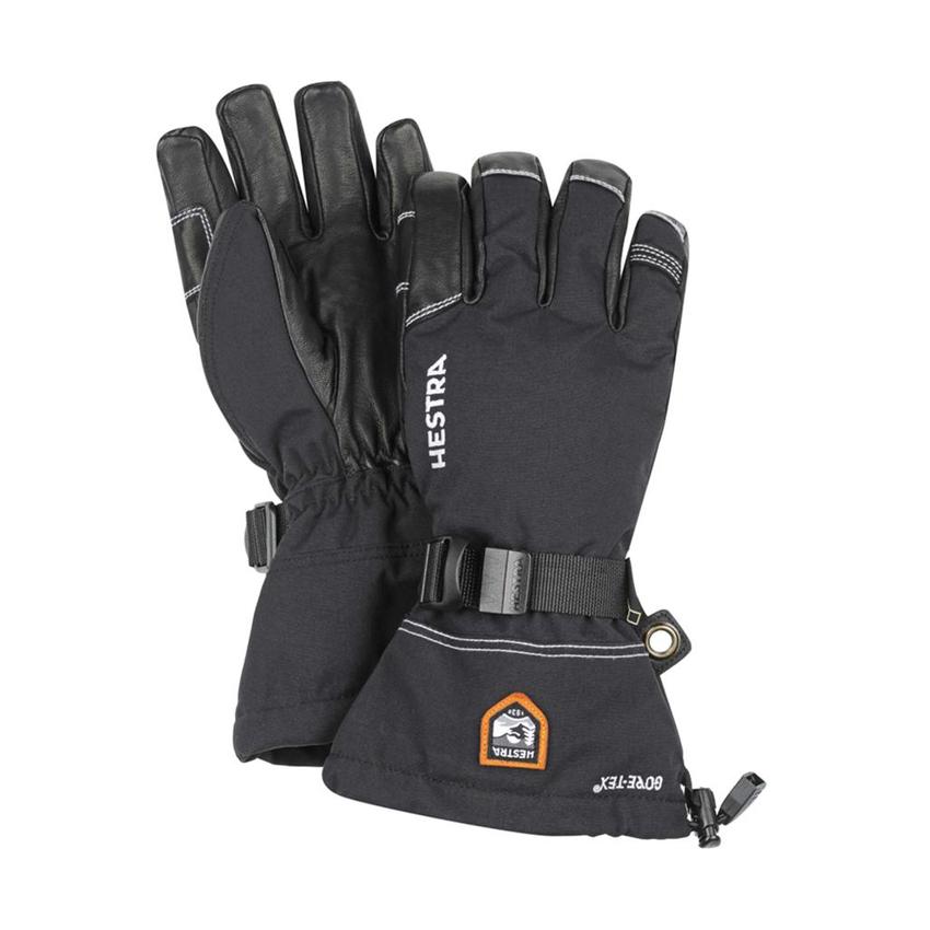 Hestra Army Leather Heli Ski Jr sormikas musta